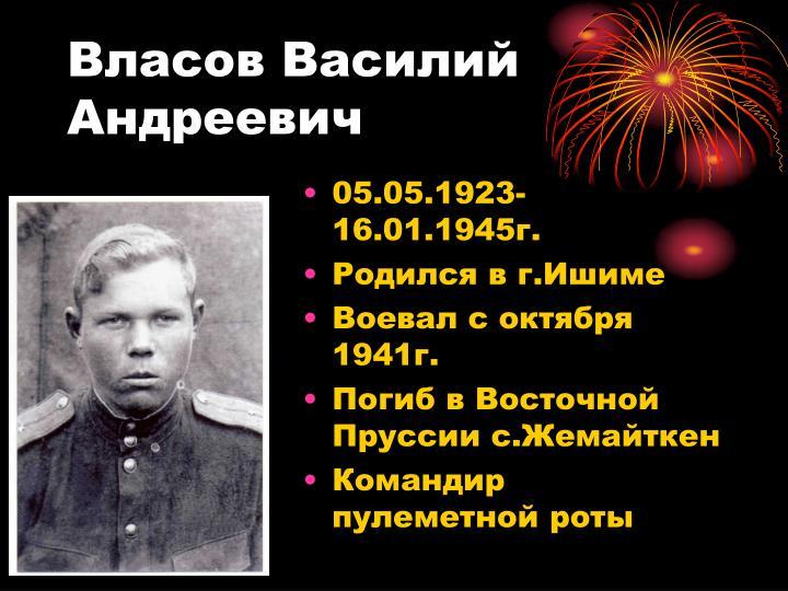 Власов Василий Андреевич