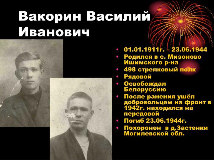 Вакорин Василий Иванович