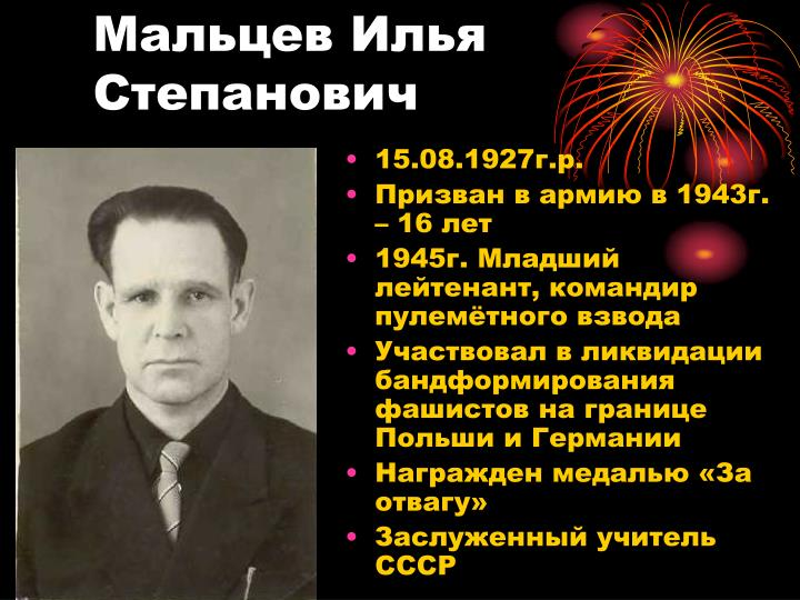 Мальцев Илья Степанович