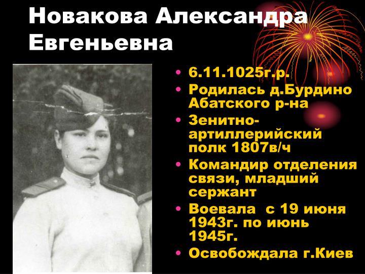 Новакова Александра