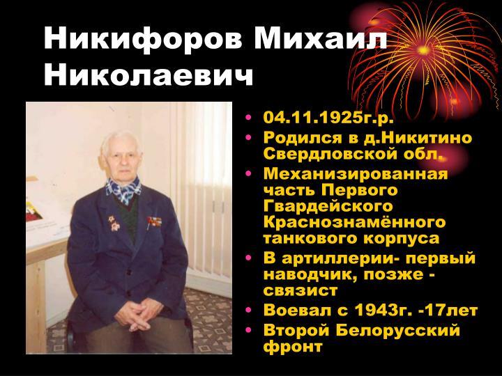 Никифоров Михаил Николаевич