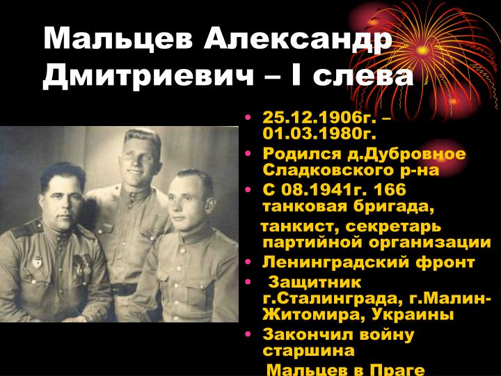Мальцев Александр Дмитриевич –