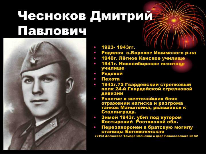 Чесноков Дмитрий Павлович