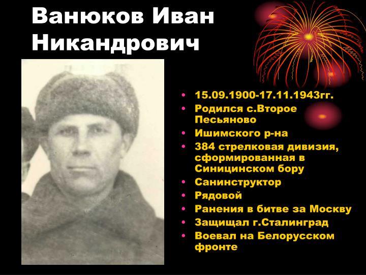 Ванюков Иван Никандрович