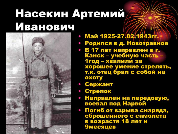 Насекин Артемий Иванович