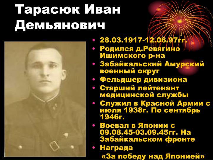 Тарасюк Иван Демьянович