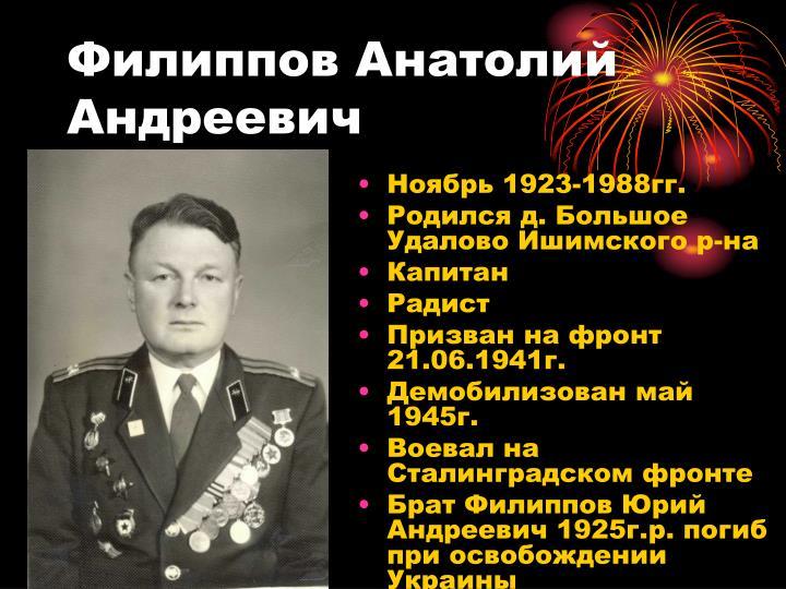 Филиппов Анатолий Андреевич