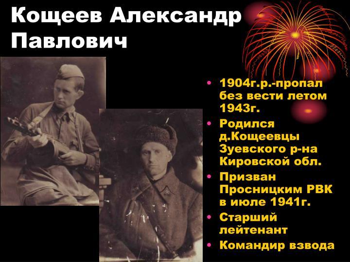 Кощеев Александр  Павлович