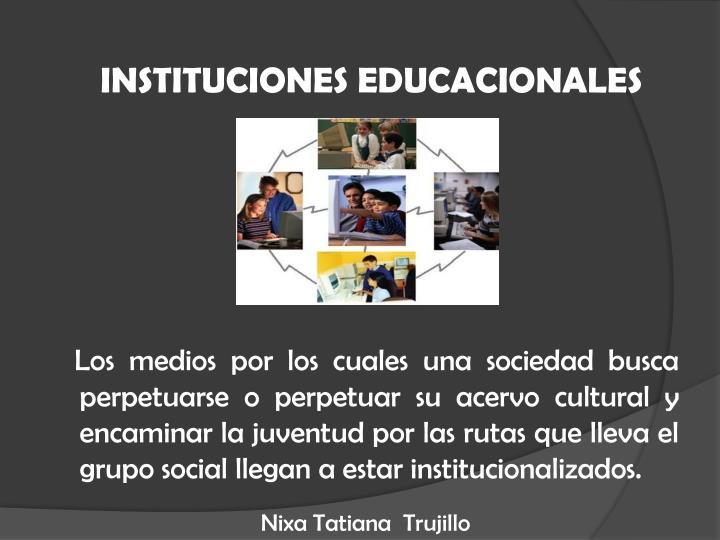 Instituciones educacionales