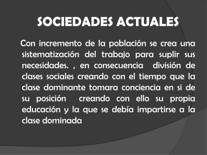 SOCIEDADES ACTUALES