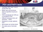 psv and pafv tests