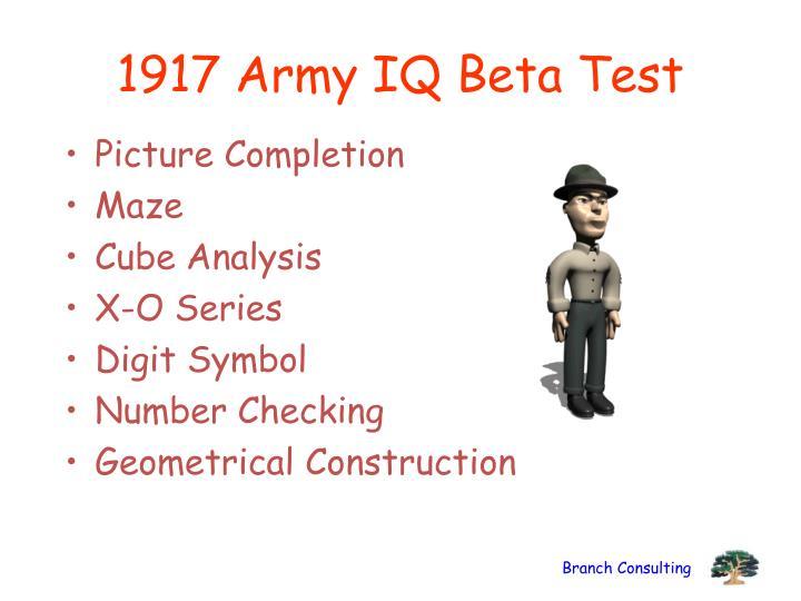 1917 Army IQ Beta Test
