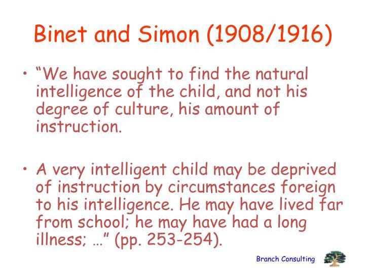 Binet and Simon (1908/1916)