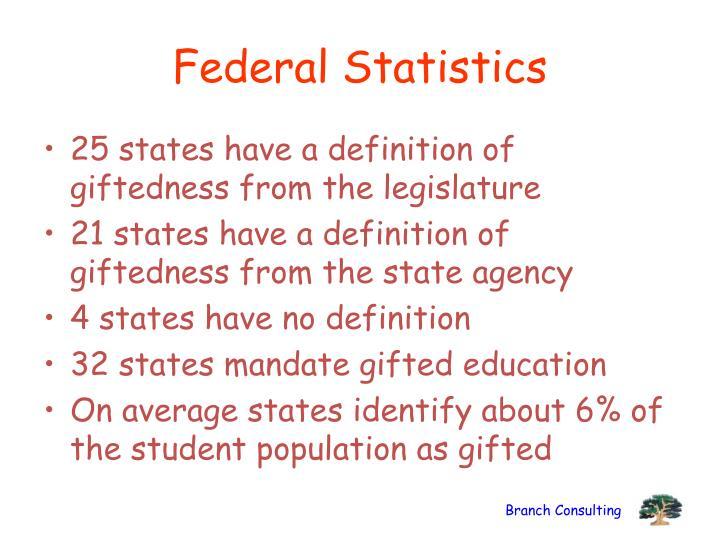 Federal Statistics