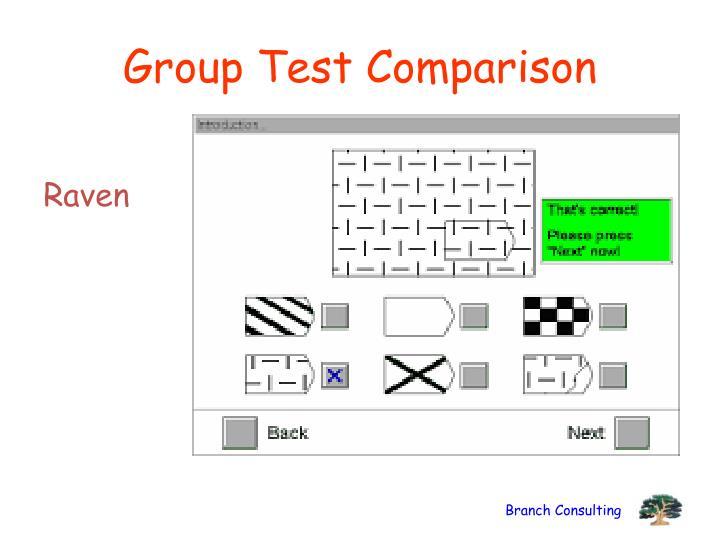 Group Test Comparison
