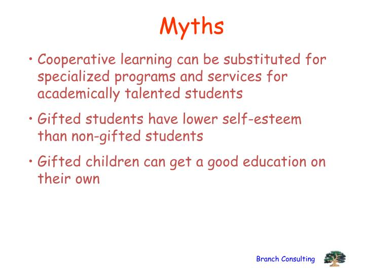 Cooperative learning can be substituted for specialized programs and services for academically talented students
