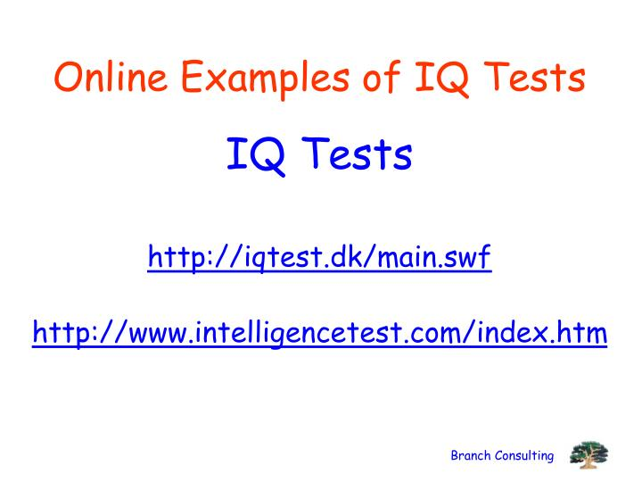 Online Examples of IQ Tests