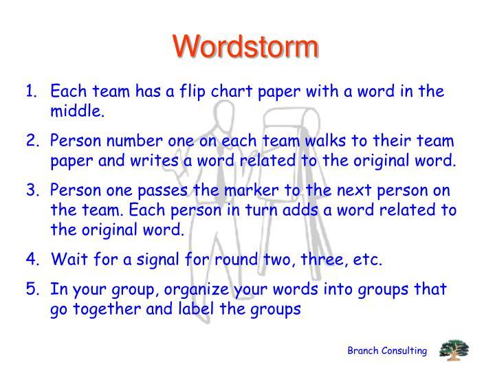 Wordstorm