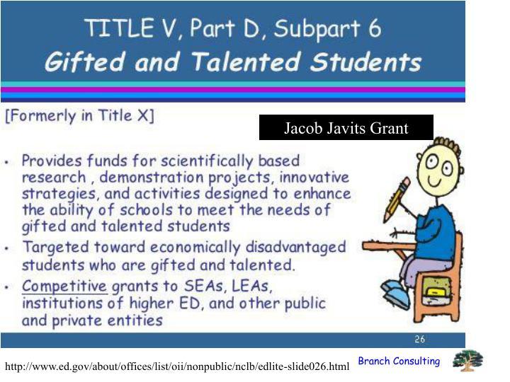 Jacob Javits Grant