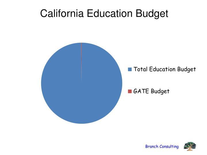 California Education Budget