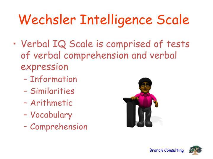 Wechsler Intelligence Scale