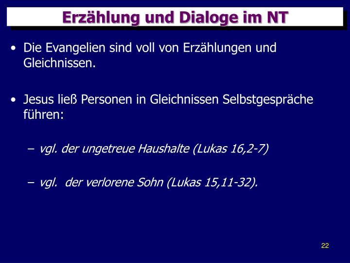 Erzählung und Dialoge im NT