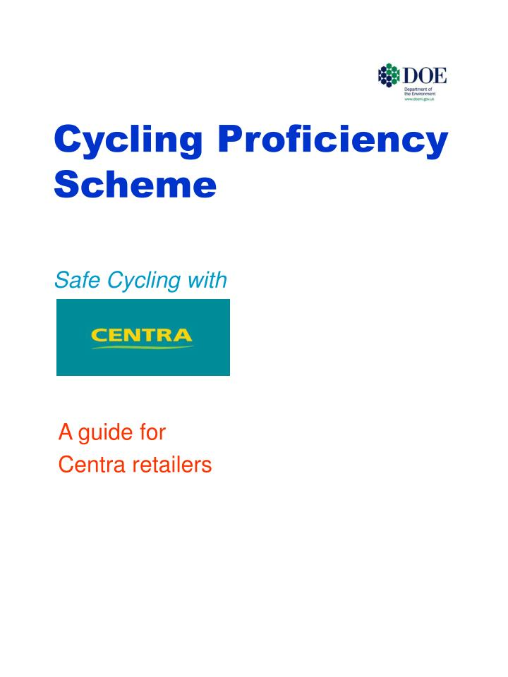 cycling proficiency scheme safe cycling with n.