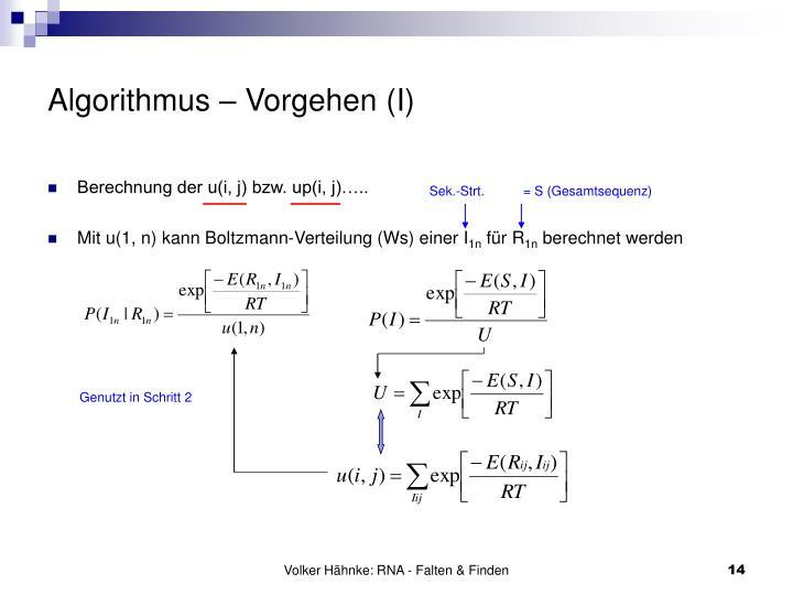 Algorithmus – Vorgehen (I)