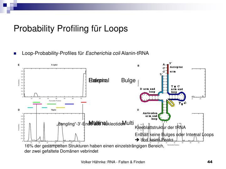 Probability Profiling für Loops