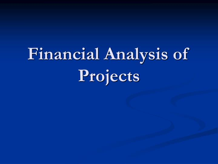 financial analysis of projects n.