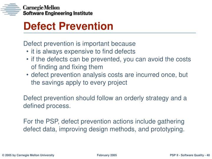 Defect Prevention