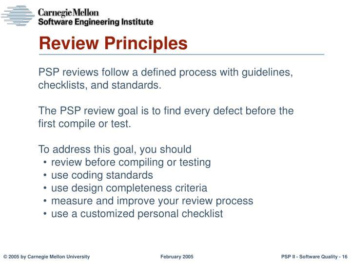 Review Principles