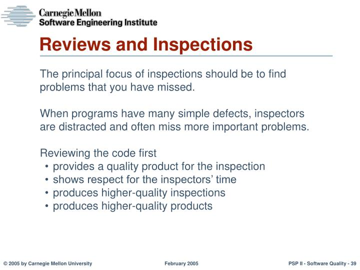 Reviews and Inspections