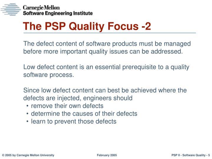The PSP Quality Focus -2