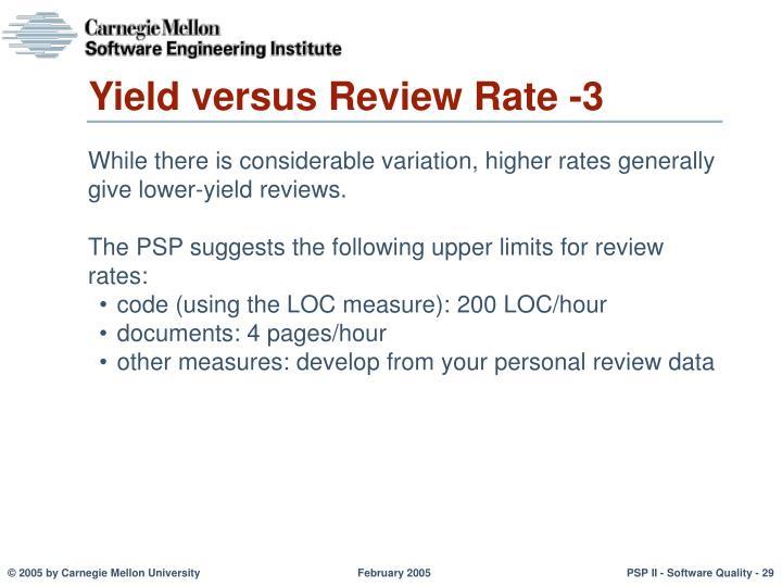 Yield versus Review Rate -3