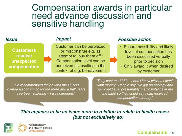 Compensation awards in particular need advance discussion and sensitive handling