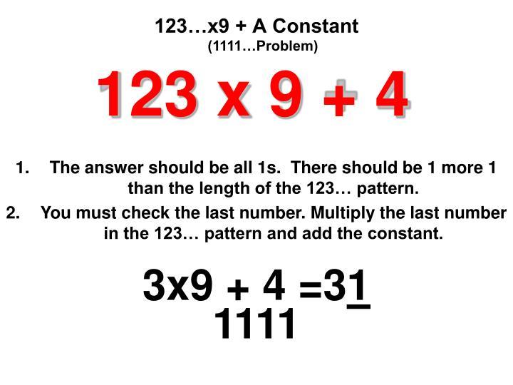 (1111…Problem)