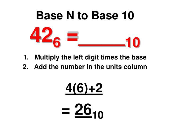 Base N to Base 10