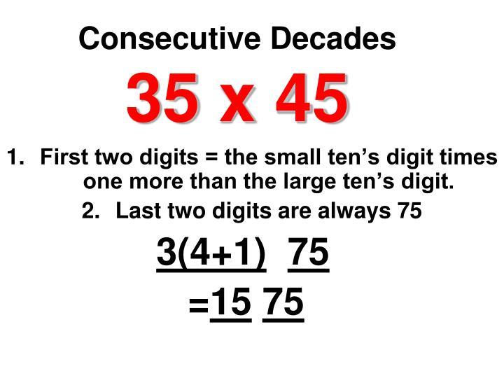Consecutive Decades