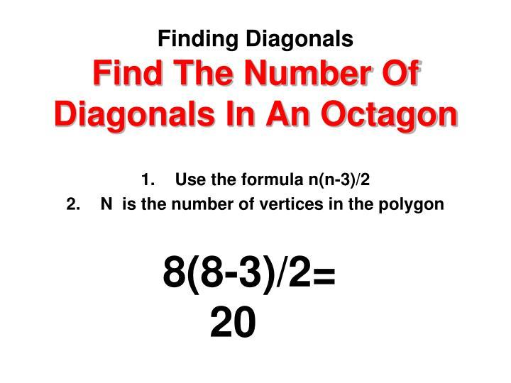 Finding Diagonals