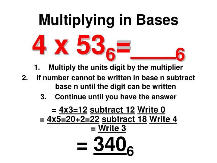 Multiplying in Bases
