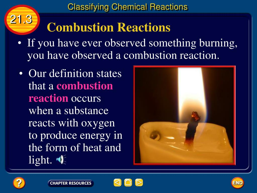 PPT - Chapter 21: Chemical Reactions PowerPoint ...