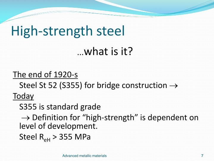 High-strength steel