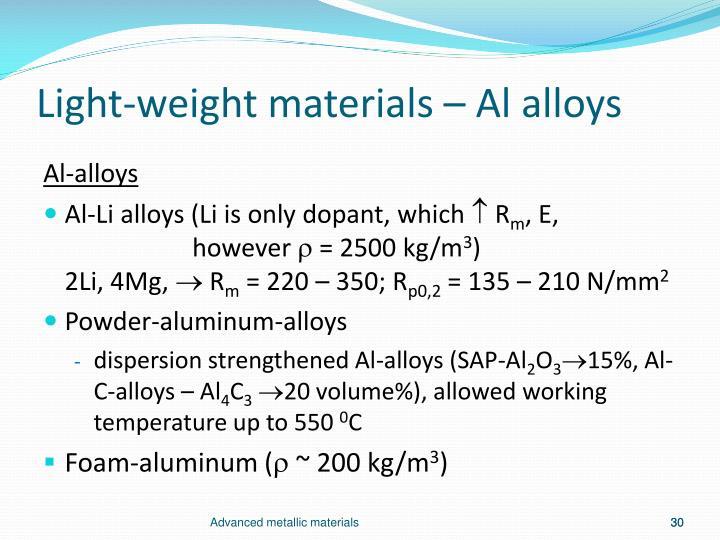 Light-weight materials –