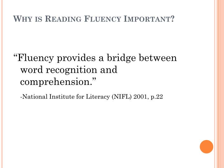 Why is Reading Fluency Important?