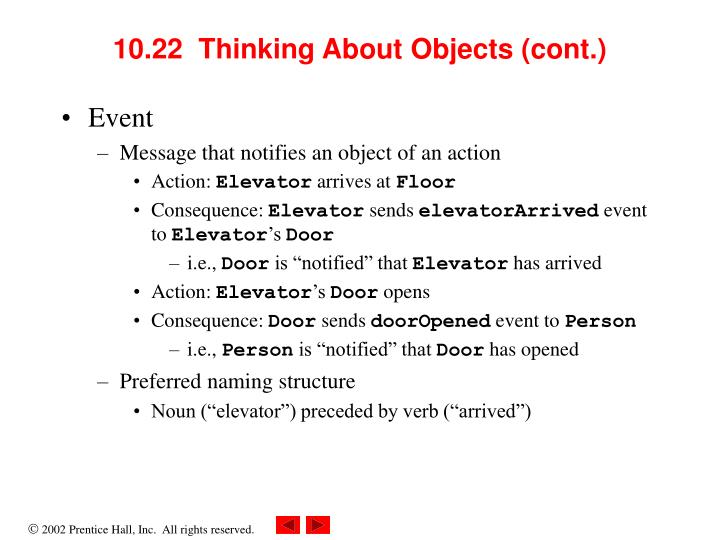 10.22  Thinking About Objects (cont.)