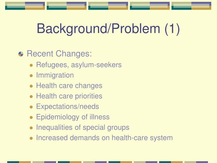 Background/Problem (1)
