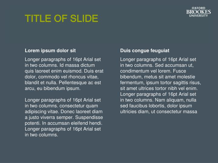 Title of slide