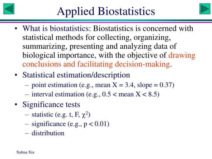 PPT - Applied Biostatistics PowerPoint Presentation - ID:5939028