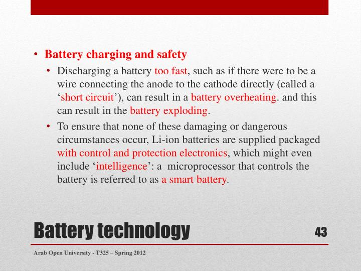 Battery charging and safety